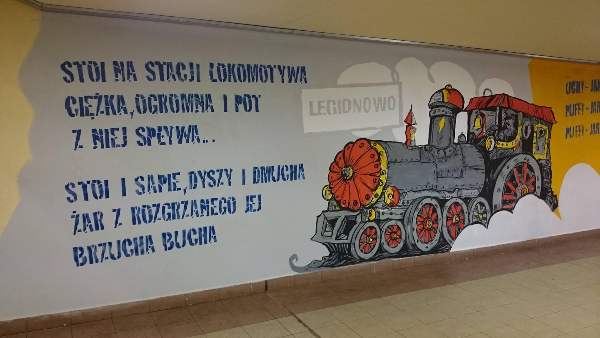 Lokomotywa ruszy a legionowo miejscowa for Mural legionowo